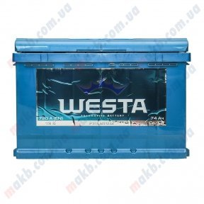 Аккумулятор WESTA 74Ah R+ 720A