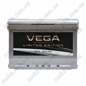Аккумулятор Vega Limited Edition 60Ah R+ 600A (низкобазовый)