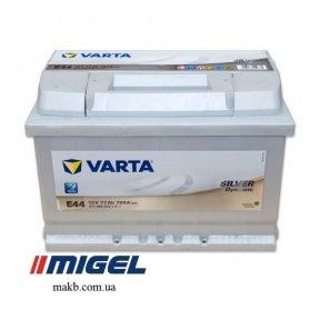 Аккумулятор Varta 77Ah R+ 780A Silver Dynamic