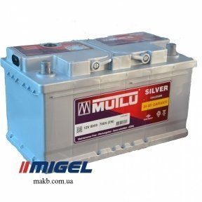 Аккумулятор Mutlu Silver Calcium 80Ah R+ 700A (низкобазовый)
