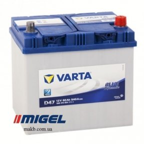 Аккумулятор Varta 60Ah JR+ 540A Blue Dynamic