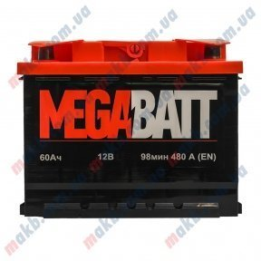 Аккумулятор MegaBatt 60Ah R+ 480A