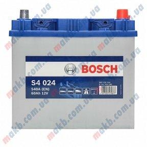 Аккумулятор Bosch S4 Silver 60AH JR+540A (EN)