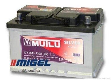 Аккумулятор Mutlu Silver Calcium 65Ah R+ 720A (Низкобазовый)
