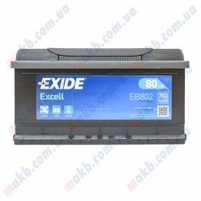 Аккумулятор Exide Excell 80Ah R+ 700A