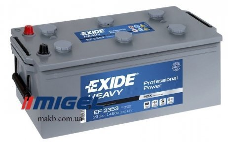 Аккумулятор Exide Professional Power 235Ah L+ 1300A