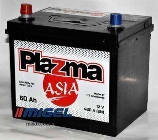 Аккумулятор Plazma ASIA 60Ah JL+ 480A