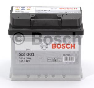 Аккумулятор BOSCH S3 41AH R+ 360A (EN) (Низкобазовый)