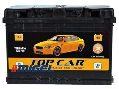 Аккумулятор TOP CAR 74Ah R+ 720A