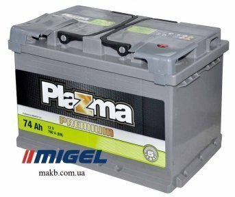 Аккумулятор Plazma Premium 74AH R+ 760A