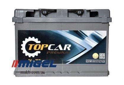 Аккумулятор TOP CAR Premium 74Ah R+ 760A