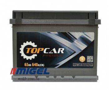 Аккумулятор TOP CAR Premium 65Ah R+ 640A