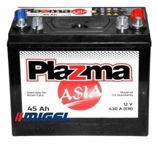 Аккумулятор Plazma ASIA 45AH JR+ 430A (тонкая клемма)