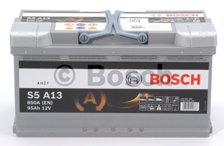 Аккумулятор Bosch S5 AGM 95AH R+850A (EN)