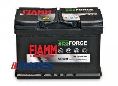 Аккумулятор Fiamm Ecoforce AGM 70Ah R+ 760A
