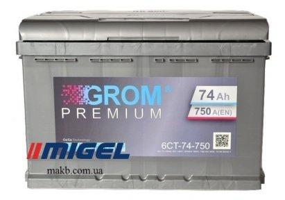Аккумулятор Grom 74Ah R+ 750A