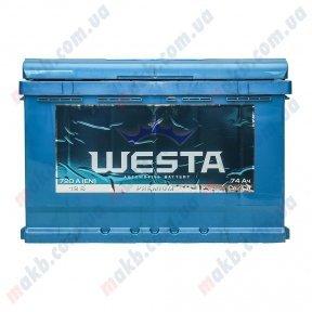 Аккумулятор WESTA 74Ah L+ 720A