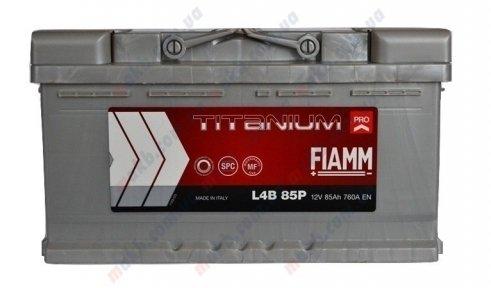 Аккумулятор FIAMM Titanium Pro 85Ah R+ 760A (низкобазовый)