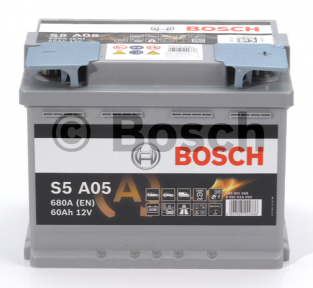 Аккумулятор Bosch S5 AGM 60AH R+680A