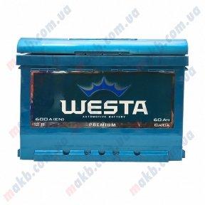 Аккумулятор WESTA 60AH R+ 600A (Низкобазовый)