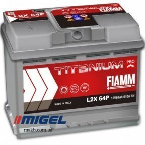 Аккумулятор Fiamm Titanium Pro 64Ah R+ 610A