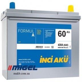 Аккумулятор INCI-AKU Formul A 60Ah JR+ 430A (корпус 45)