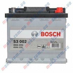 Аккумулятор BOSCH S3 45 AH R+400A (EN)