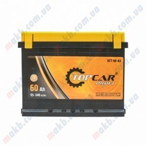 Аккумулятор TOP CAR 60Ah L+ 540A