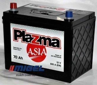Аккумулятор Plazma ASIA 70Ah JL+ 610A