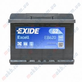Аккумулятор Exide Excell 62Ah L+ 540A