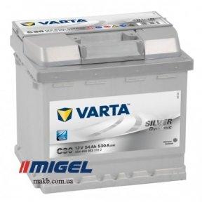 Аккумулятор Varta 54Ah R+ 530A Silver Dynamic