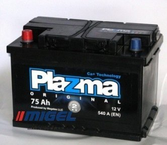 Аккумулятор Plazma Original 75Ah L+ 540A