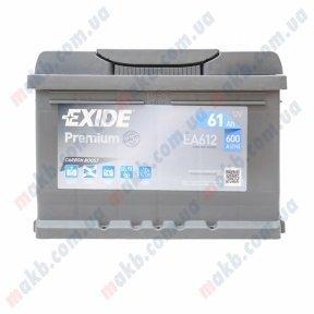 Аккумулятор Exide Premium 61Ah R+ 600A
