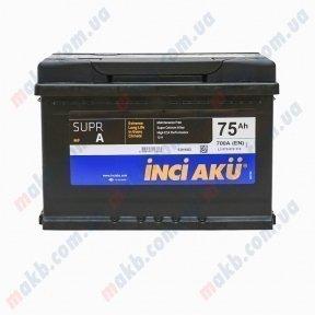 Аккумулятор INCI-AKU Supr A 75Ah R+ 700A
