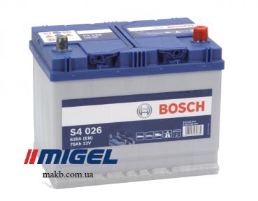 Аккумулятор Bosch S4 Silver 70AH JR+630A (EN)
