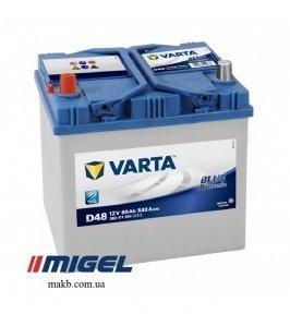 Аккумулятор Varta 60Ah JL+ 540A Blue Dynamic
