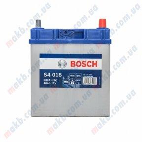 Аккумулятор Bosch S4 Silver 40Ah JR+ 330A (EN) (тонкая клемма)