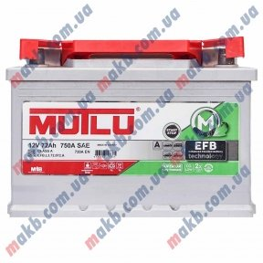 Аккумулятор Mutlu EFB Start-Stop Technology 72Ah R+ 720A