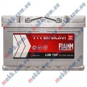 Аккумулятор Fiamm Titanium Pro 75Ah R+ 730A (низкобазовый)
