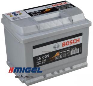 Аккумулятор Bosch S5 Silver Plus 63AH R+610A (EN)