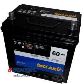 Аккумулятор INCI-AKU Supr A 60Ah JR+ 580A