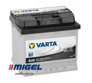 Аккумулятор Varta 45Ah R+ 400A Black Dynamic