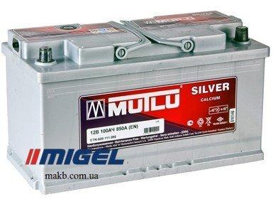 Аккумулятор Mutlu Silver Calcium 100Ah R+ 850A