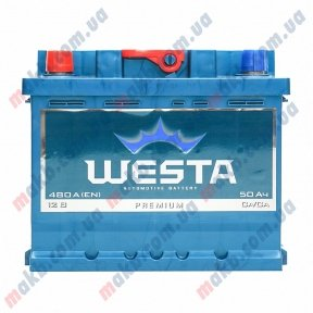 Аккумулятор WESTA 50AH L+ 480A (Низкобазовый)