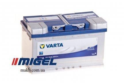 Аккумулятор Varta 80Ah R+ 740A Blue Dynamic (низкобазовый)