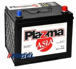 Аккумулятор Plazma ASIA 70AH JR+ 610A