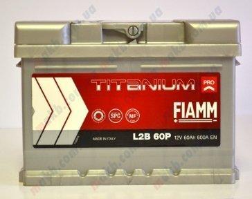 Аккумулятор Fiamm Titanium Pro 60Ah R+ 600A (низкобазовый)