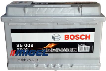 Аккумулятор Bosch S5 Silver Plus 77AH R+780A (EN)