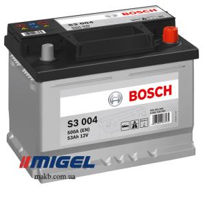 Аккумулятор Bosch S3 53AH R+500A (EN) (Низкобазовый)