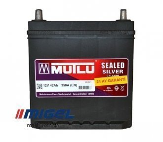 Аккумулятор Mutlu Sealed Silver 42Ah JL+ 350A (тонкая клемма)